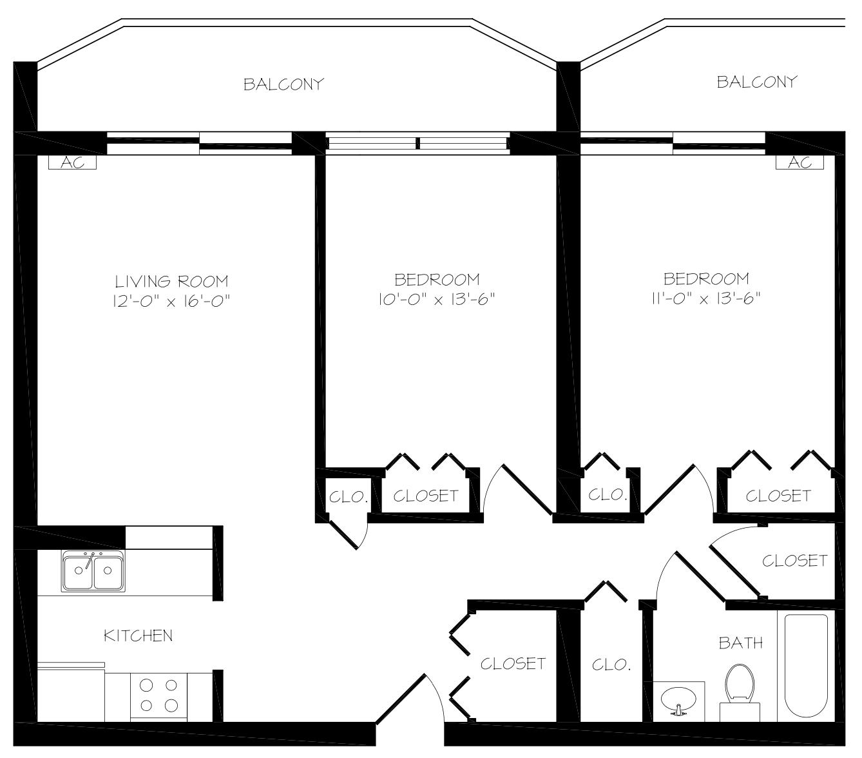 Judson Park 2 Bedroom Suite