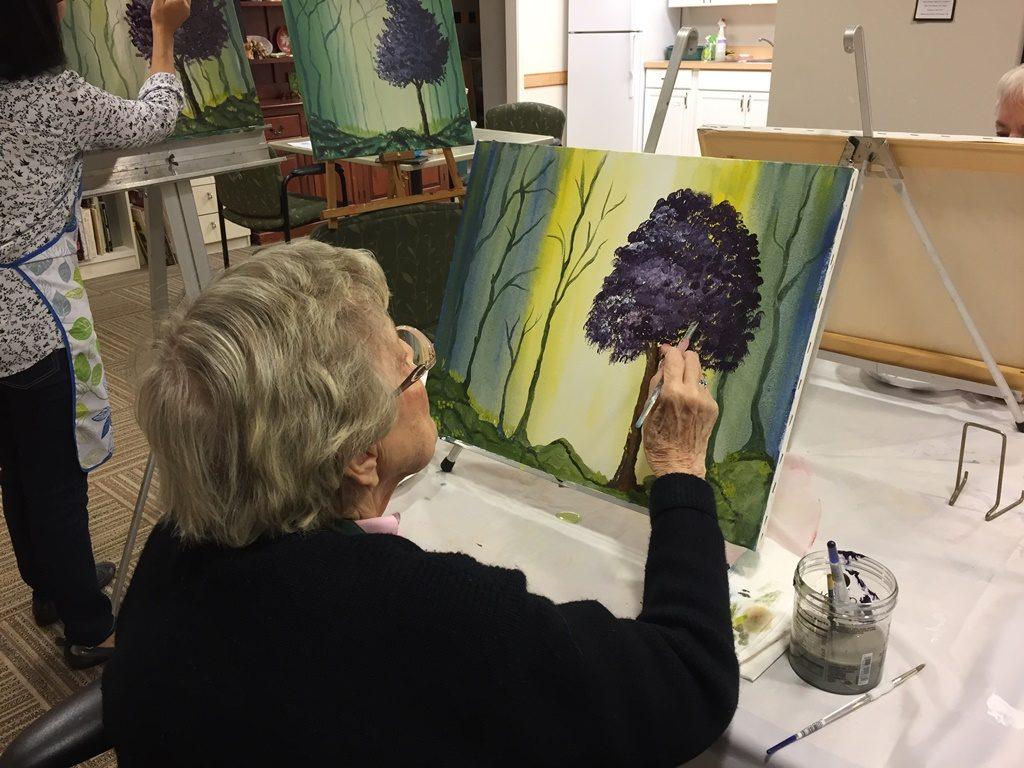 Judson Manor Art Class