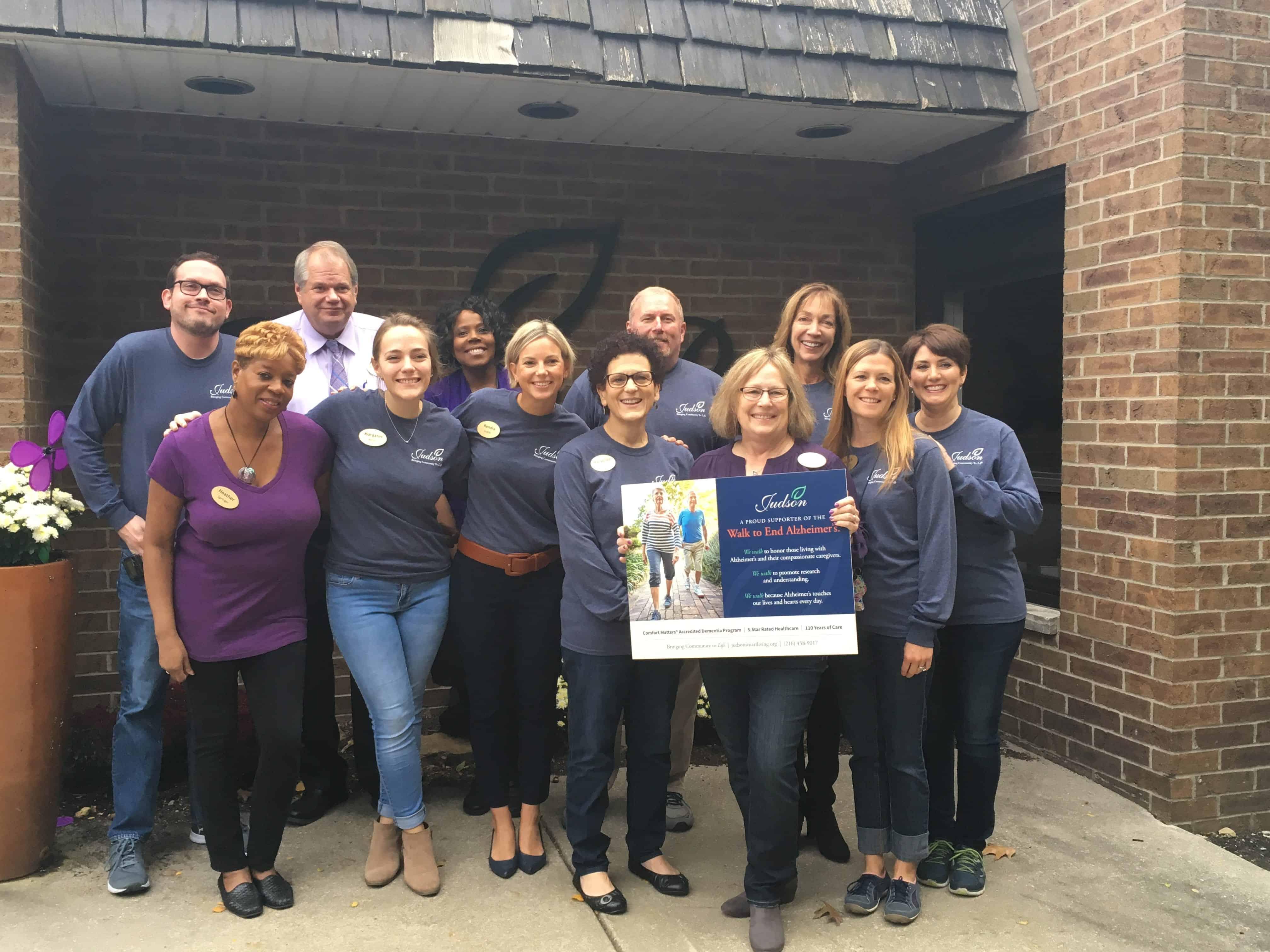 Judson Park team Alzheimer's Spirit Week